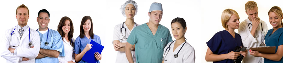 doctors, nurses and cargivers